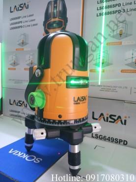 Máy bắn cos ke góc laser tia xanh Laisai LSG649SPD