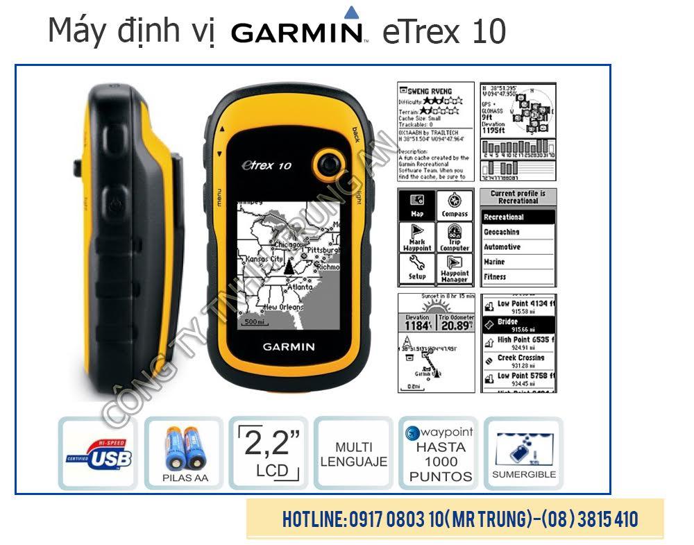 Máy GPS Garmin eTrex 10